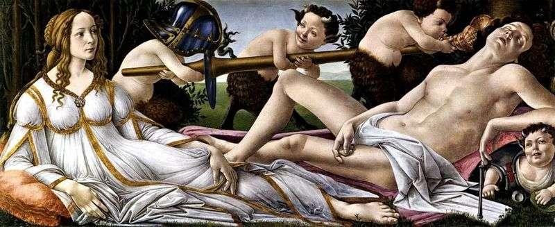 Wenus i Mars   Sandro Botticelli