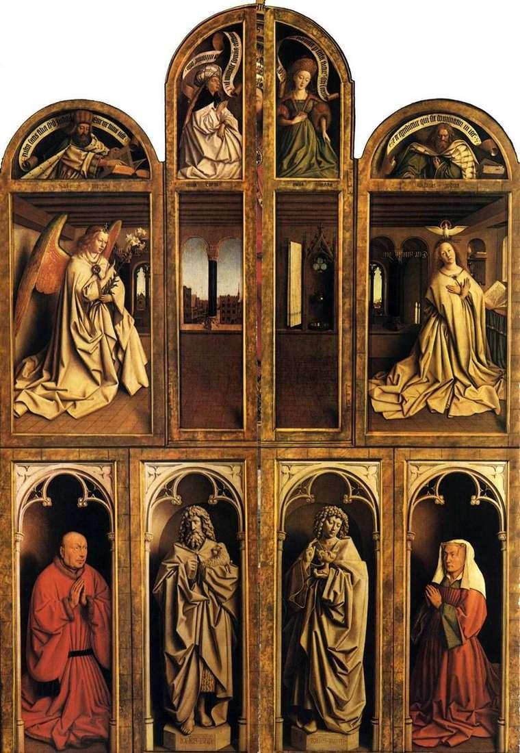 Ołtarz męski w zamkniętym stanie   Jan van Eyck