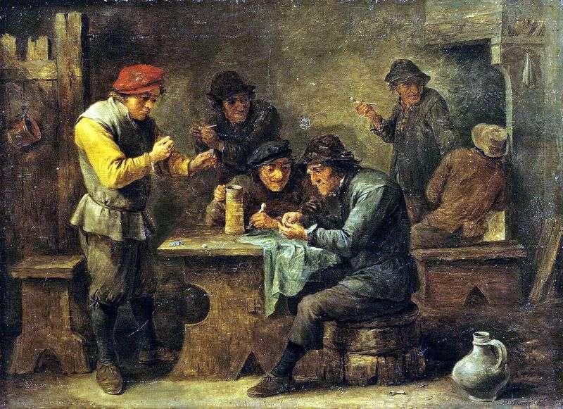 Chłopi grający w kości   David Teniers