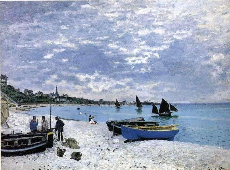 Plaża w St. Adresa   Claude Monet