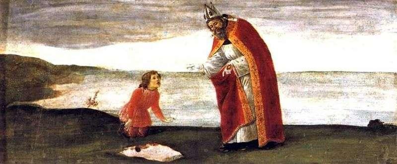 Wizja świętego Augustyna   Sandro Botticelli