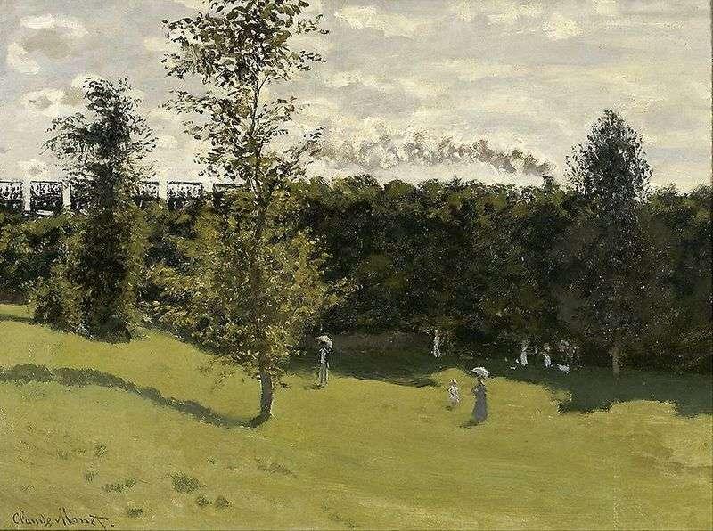 Terenowy pociąg   Claude Monet