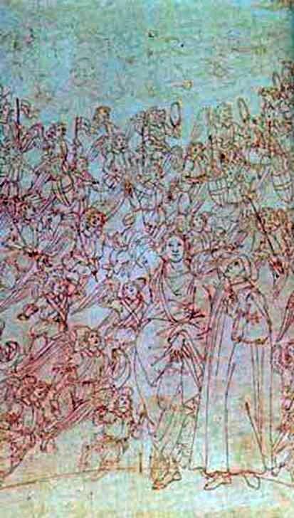 Dante i Beatrice, z Boskiej Komedii   Sandro Botticelli