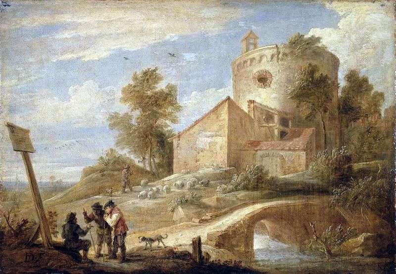 Pejzaż z wieżą   David Teniers