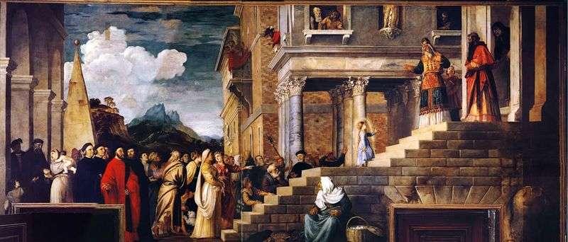 Wprowadzenie Maryi do świątyni   Titian Vecellio