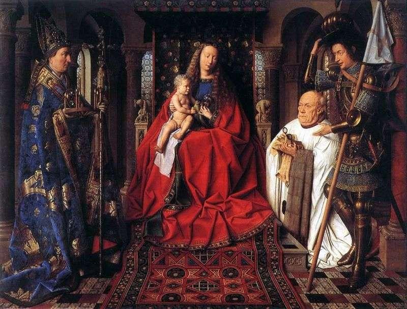 Madonna canonical van der Pale   Jan van Eyck