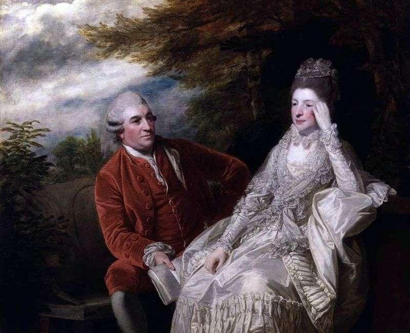 Portret Davida Garricka i Evy Marii Garrick   Reynoldsa Joshua