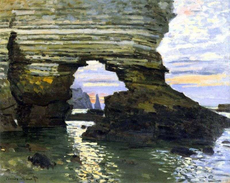 Port Aval, Etretat, kamienna brama   Claude Monet