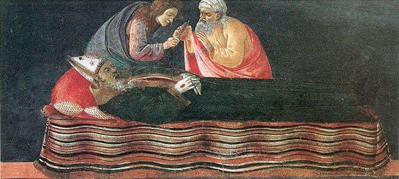 Wydobywanie Serca św. Ignacego   Sandro Botticelli