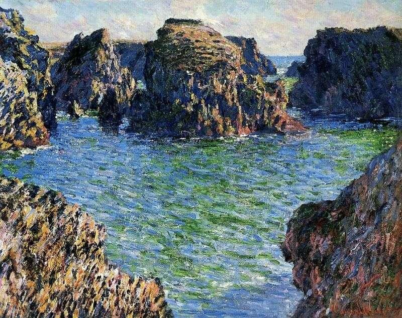 Port Gulfar. Belle Ile   Claude Monet