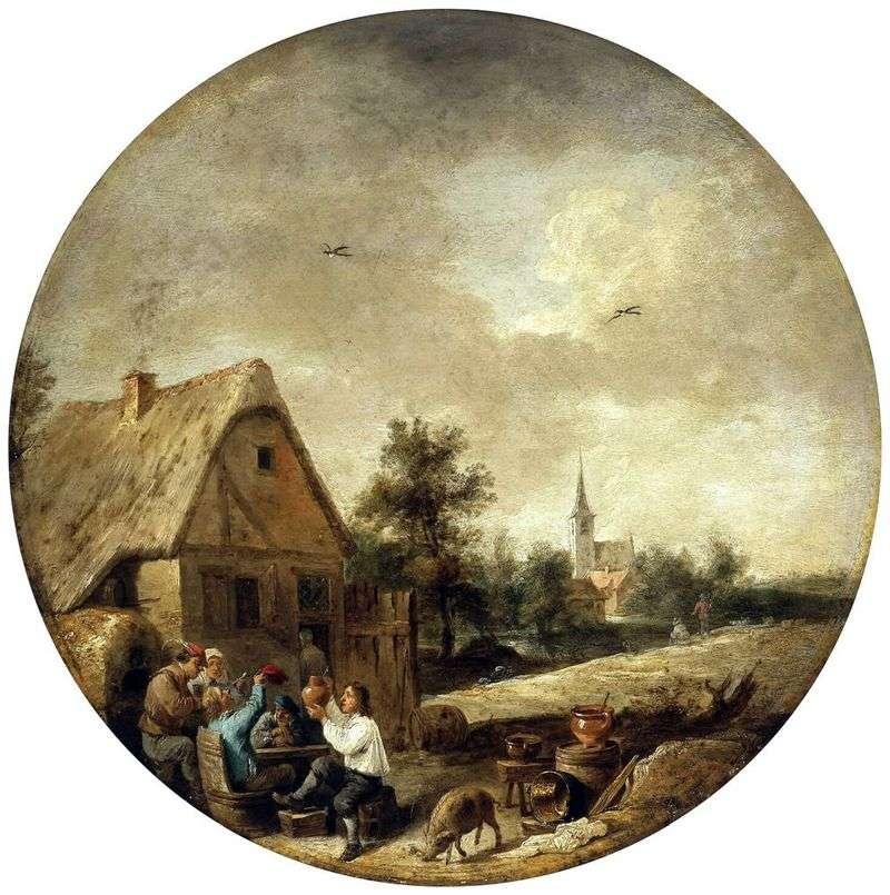 Pejzaż z wiejską cukinią   David Teniers