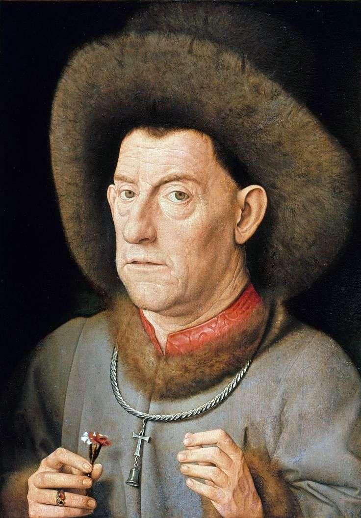 Człowiek z goździkami   Jan van Eyck