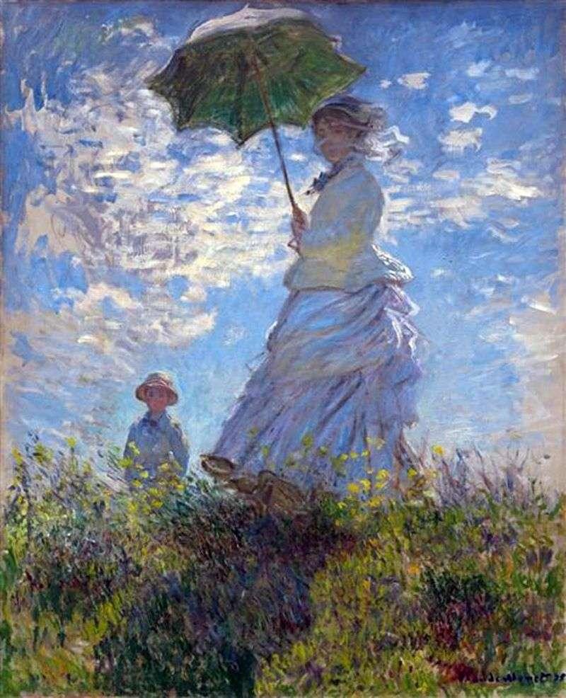 Spacer: Camilla Monet i jej syn Jean   Claude Monet