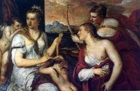 Wenus, wiążąc oczy Kupidyna   Titian Vecellio