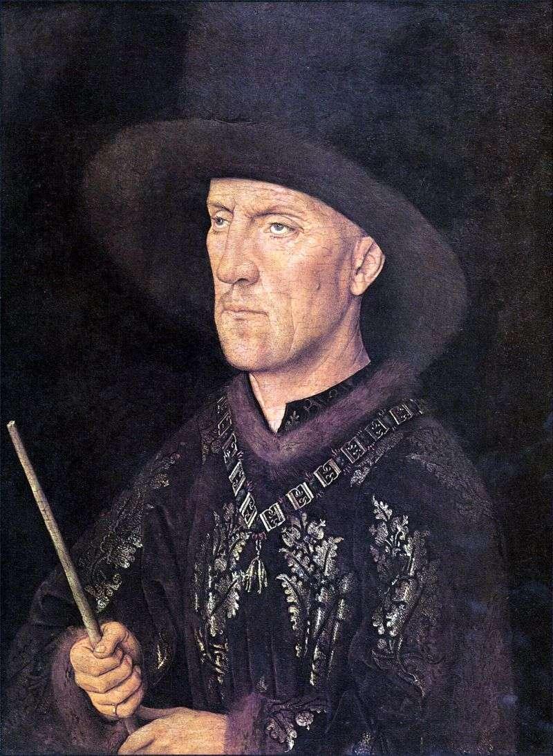 Portret Baudouina de Lanoy   Jan van Eyck
