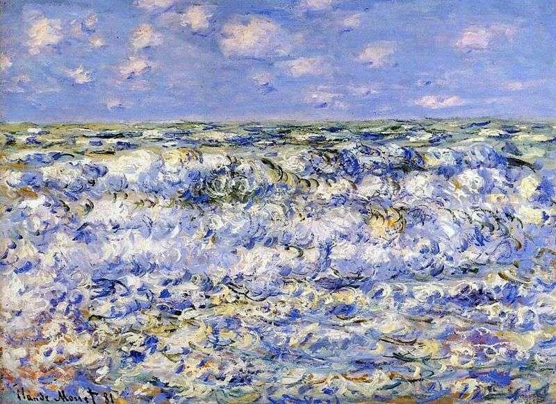 Breaking Waves   Claude Monet