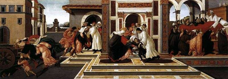 Historia św. Zinovy   Sandro Botticelli