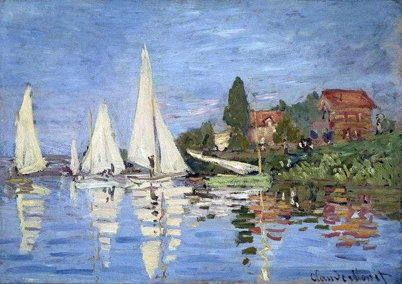 Regaty w Argenteuil   Claude Monet