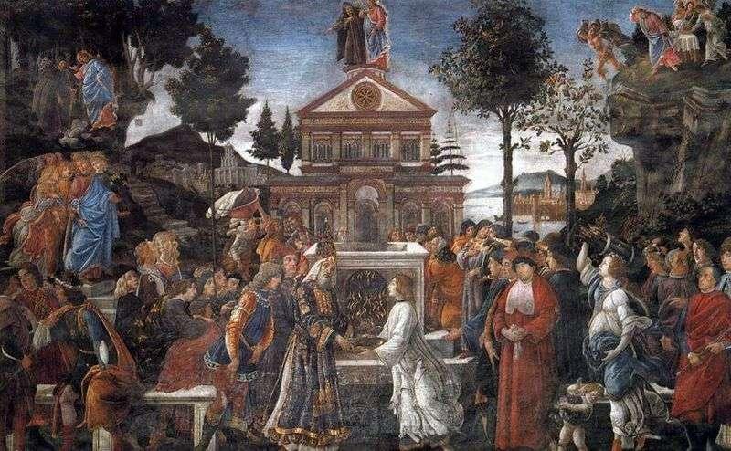 Uzdrawianie Trędowatego i Kuszenia Chrystusa   Sandro Botticelli