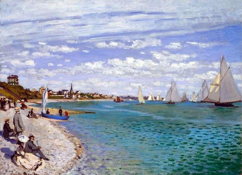 Regaty w St. Adress   Claude Monet
