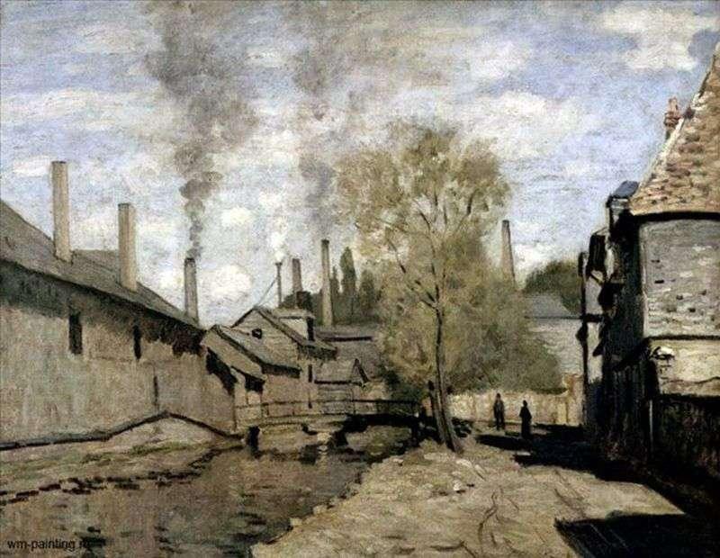Rzeka Robek w Rouen   Claude Monet