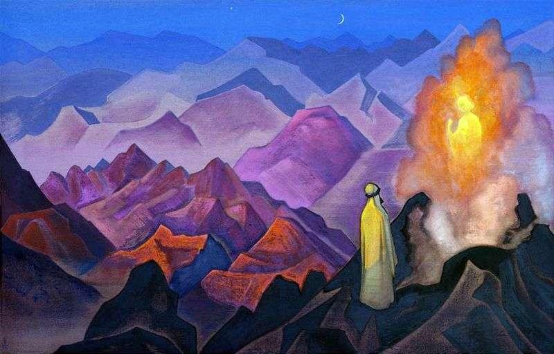 Mahomet na Górze Hira   Nicholas Roerich