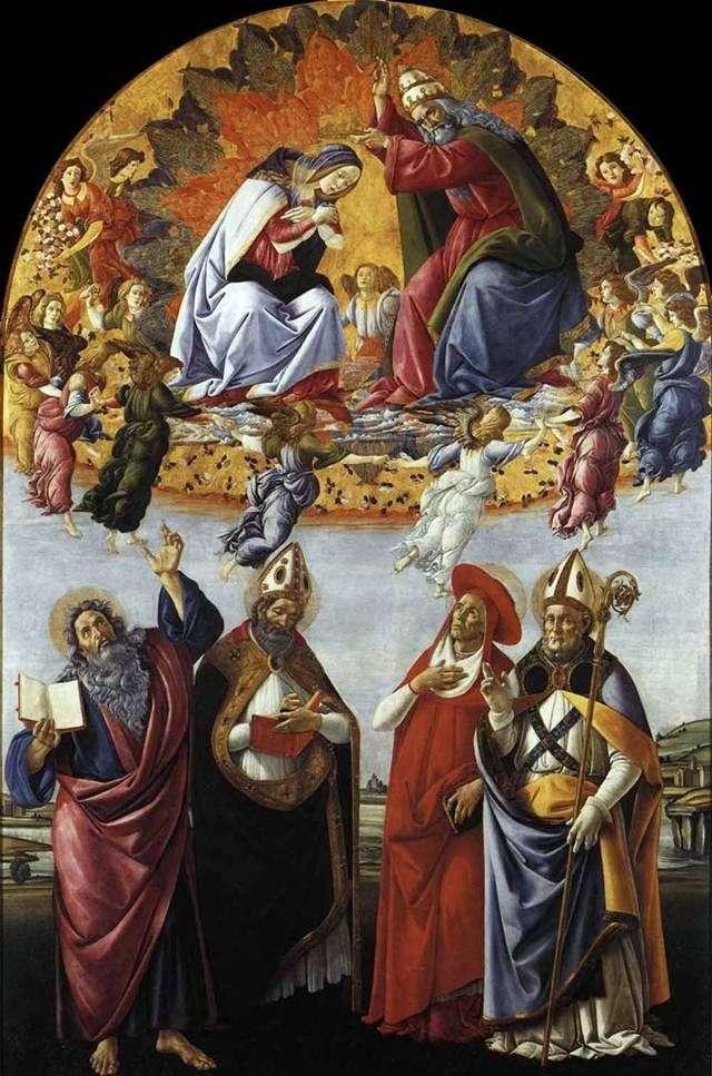 Koronacja Maryi   Sandro Botticelli