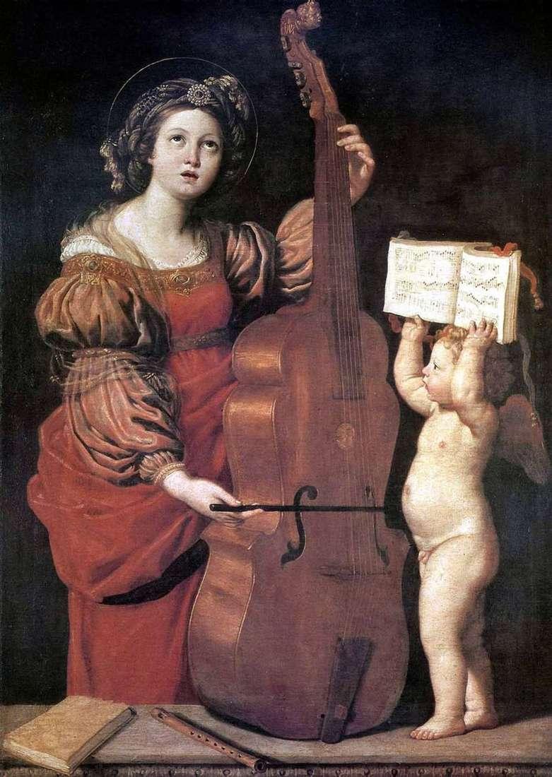 MUZYKA ST. Cecilia z Aniołem   Domenichino Dzampieri