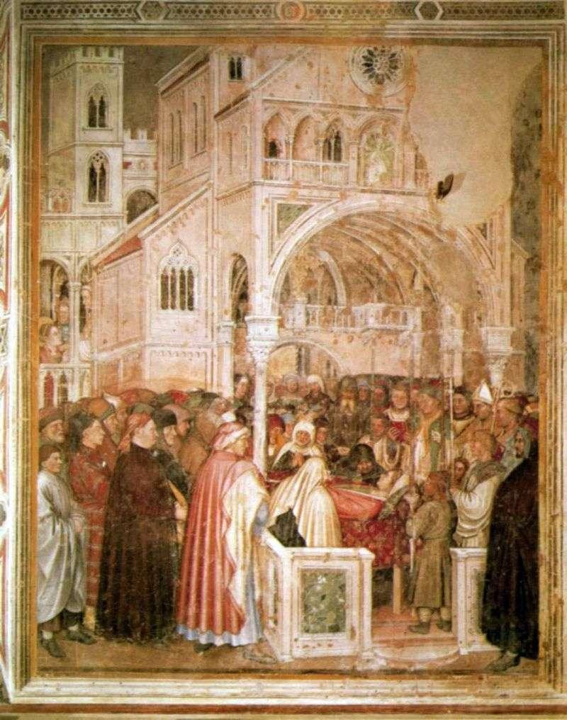 Saint Lucia na łożu śmierci. 1379 84   Altiquiero da Zevio