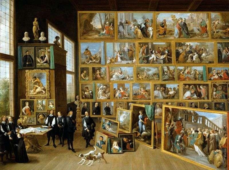 Arcyksiążę Leopold Wilhelm z Austrii w swojej galerii w Brukseli   David Teniers