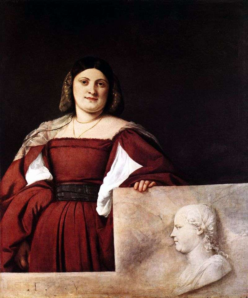 Portret żeński   Titian Vecellio