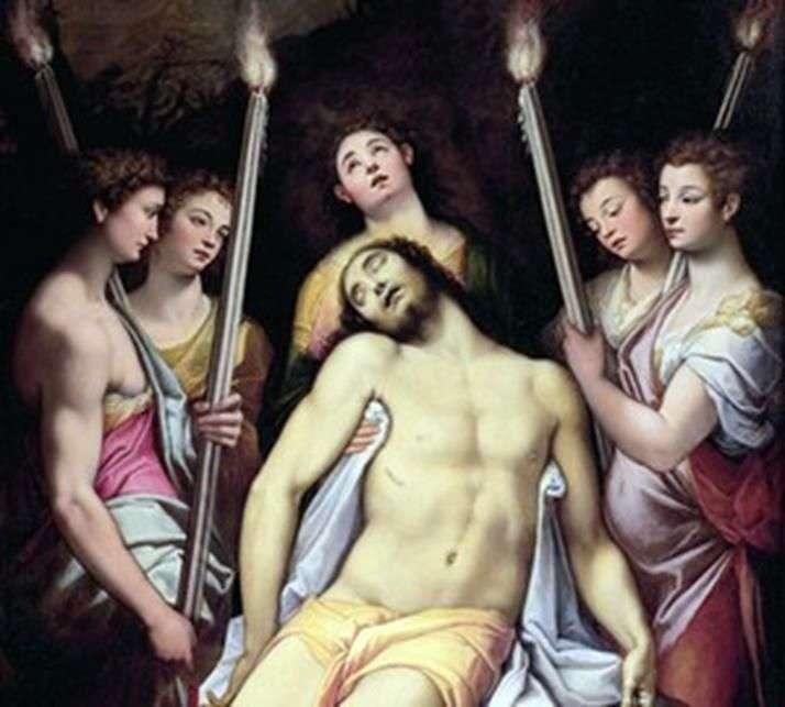 Opłakiwanie Chrystusa przez anioły   Federico Zuckari