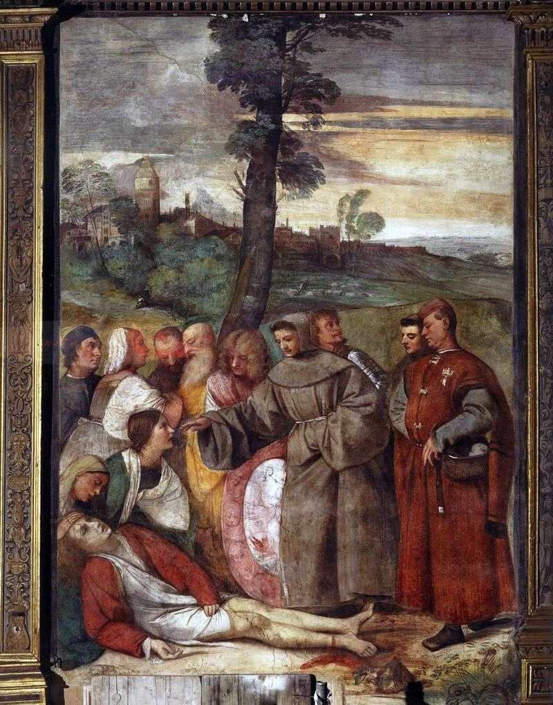 Uzdrawianie wściekłego Syna   Titian Vecellio