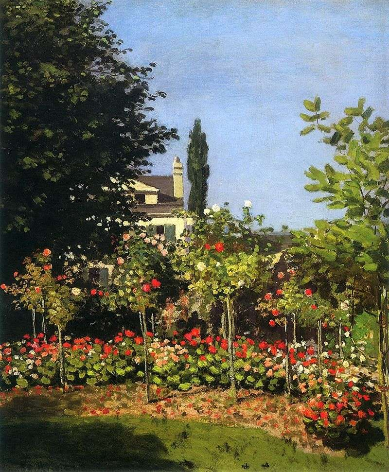 Garden in bloom in St. Adres   Claude Monet