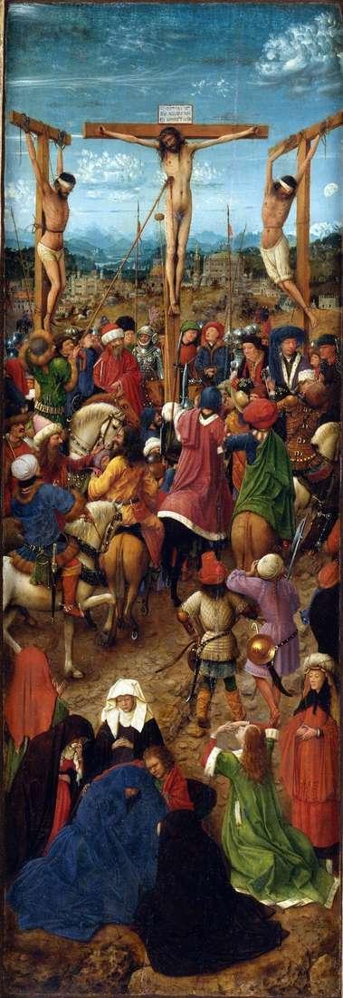 Ukrzyżowanie Dyptyk Lewa migawka   Jan van Eyck