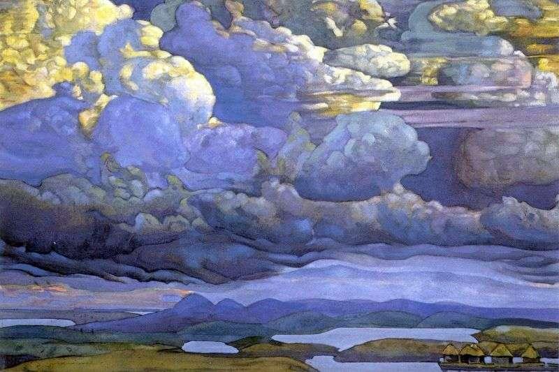 Niebiańska bitwa   Nicholas Roerich
