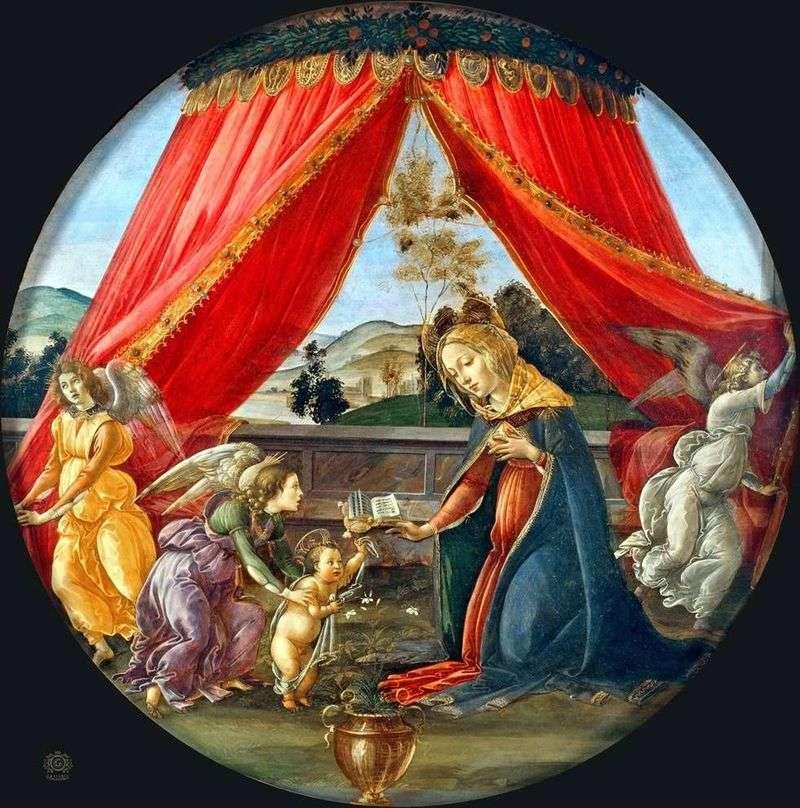 Madonna pod baldachimem (Madonna del Padillone)   Sandro Botticelli