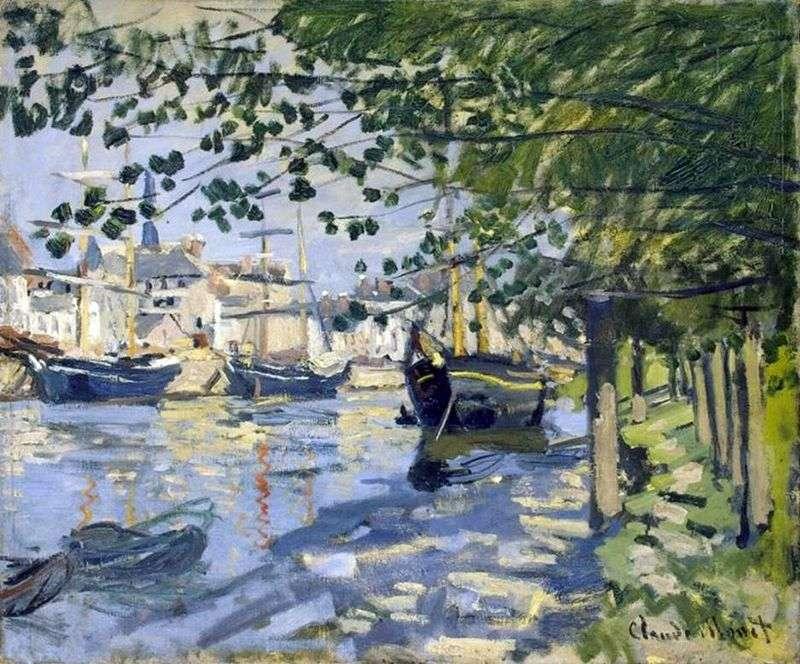 Seine w Rouen   Claude Monet