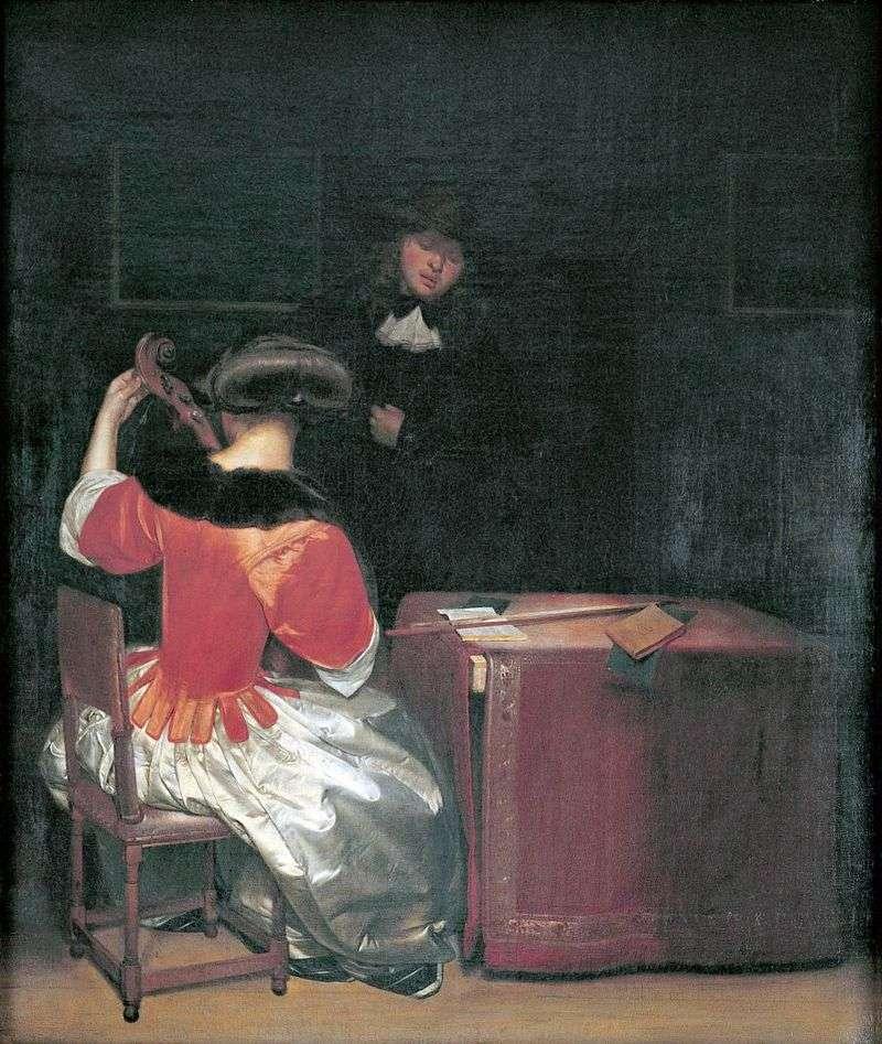 Lekcja muzyki   Gerard Terborch