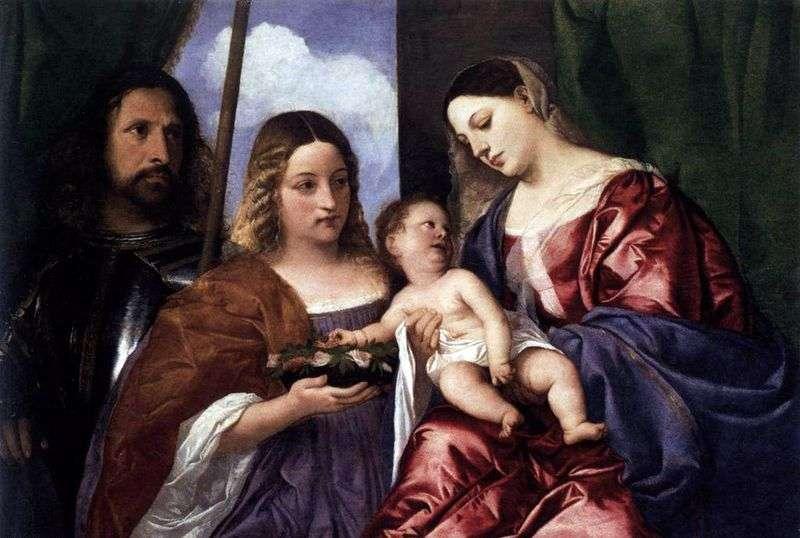 Madonna z Dzieciątkiem ze Świętą Dorotheą i Georgem   Tycjanem Vecellio