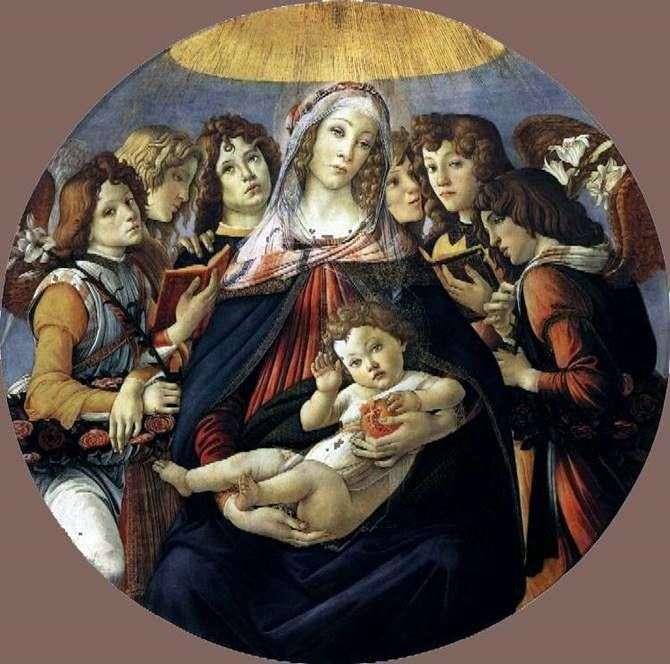 Madonna z granatem   Sandro Botticelli