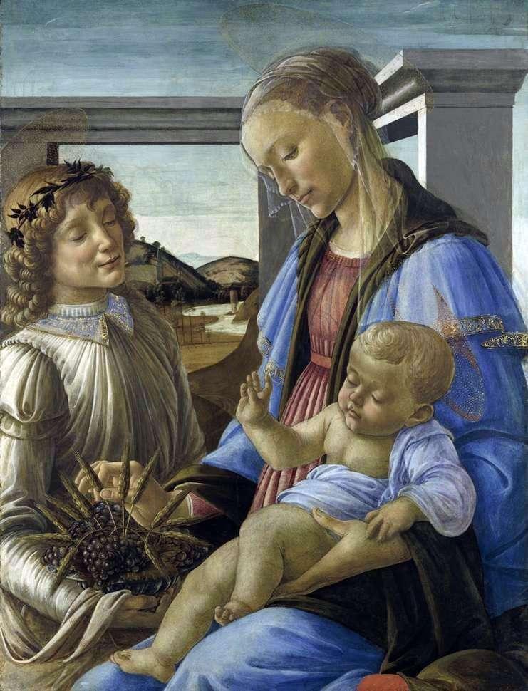 Madonna z Dzieciątkiem i Aniołem (Madonna z Eucharystii)   Sandro Botticelli