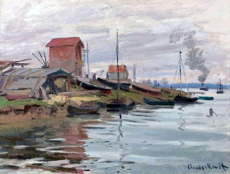 Seine, Petit Genevilliers   Claude Monet