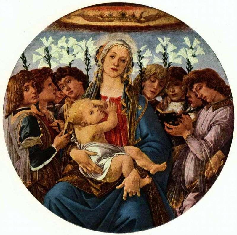 Madonna z Dzieciątkiem i Osiem Aniołów (Rachinskoe Tondo)   Sandro Botticelli