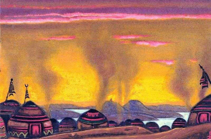 Obóz Połowców   Mikołaj Roerich