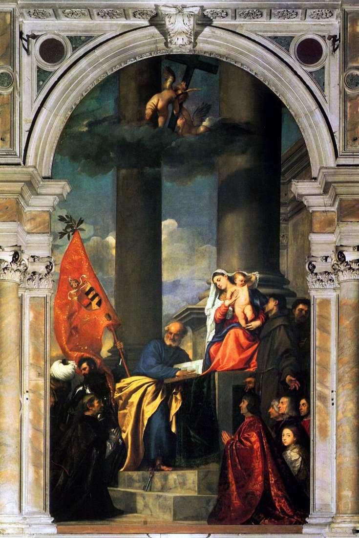 Madonna z rodziny Pesaro   Titian Vecellio