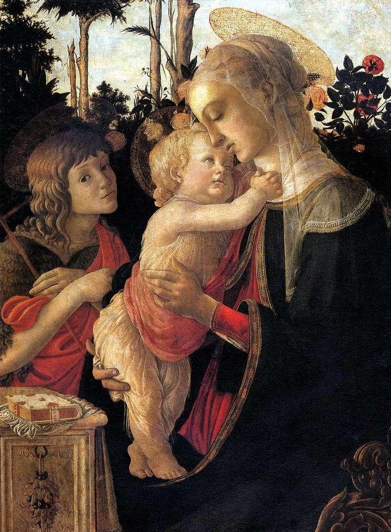 Madonna z Dzieciątkiem z Janem Chrzcicielem   Sandro Botticelli