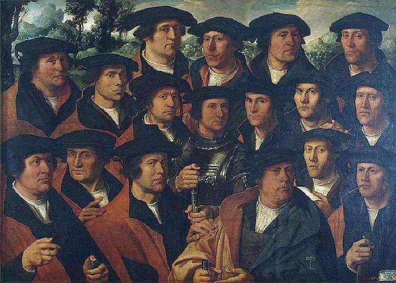 Grupowy portret Amsterdam strzelanina korporacja   Jacobs Dirk &; nbsp