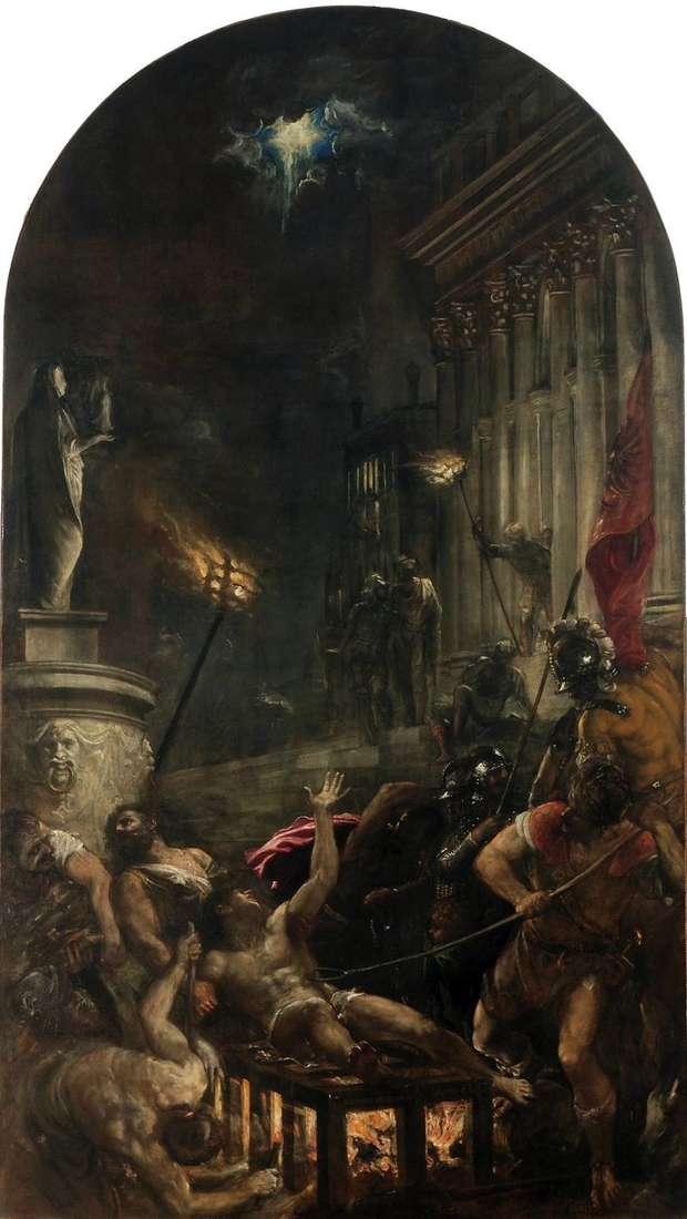 Męczeństwo św. Wawrzyńca   Tycjan Vecellio