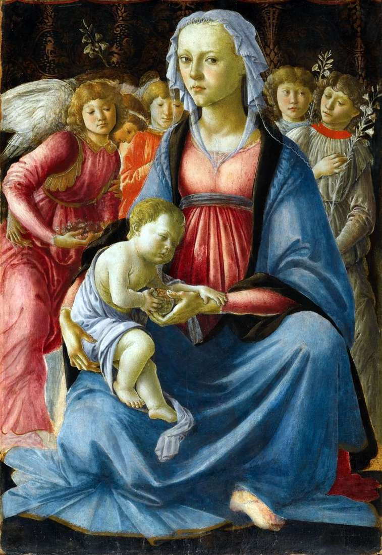 Madonna z Dzieciątkiem z pięcioma aniołami   Sandro Botticelli